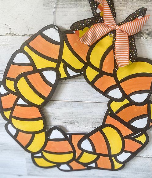 Door Hanger - Crazy About Candy Corn