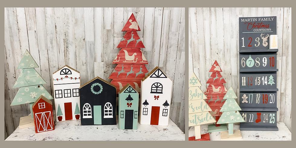Christmas Village and Advent Calendar