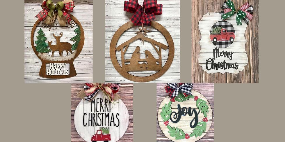 Christmas Door Hanger Workshop