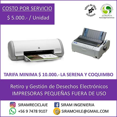 R0017 Impresoras Pequeñas