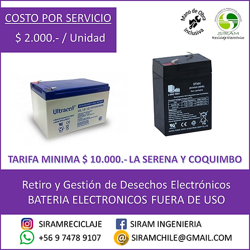 R0027 Baterías Electrónicos