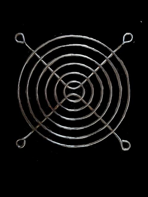 M0004 Pieza Metálica Círculos Concentricos