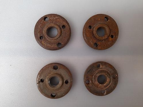 M0019 Pieza Circular Metálica 4 Perforaciones