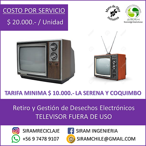 R0006 Televisor Antiguo