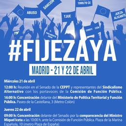 La #FijezaYa llega al Senado