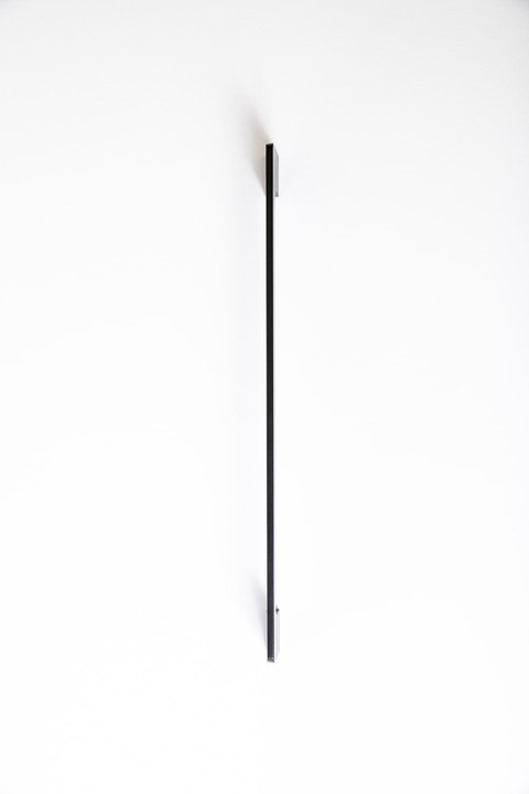 Flat black handle