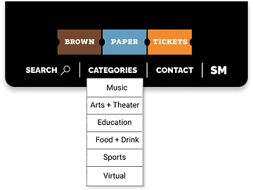 Redesigned Categories Menu