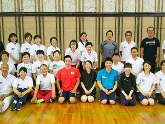 越谷市スポーツ推進委員研修会にて、スピードボール講習を行いました。