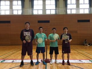 プロバスケットボール 越谷アルファ―ズの選手がスピードボールを体験しました。