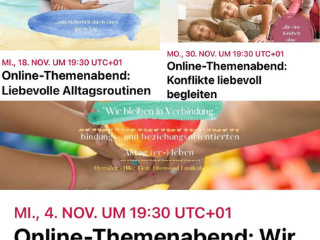 Online - Themenabendreihe im November