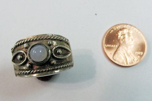 Sterling Silver Ellensburg Blue Agate Ladies Ring