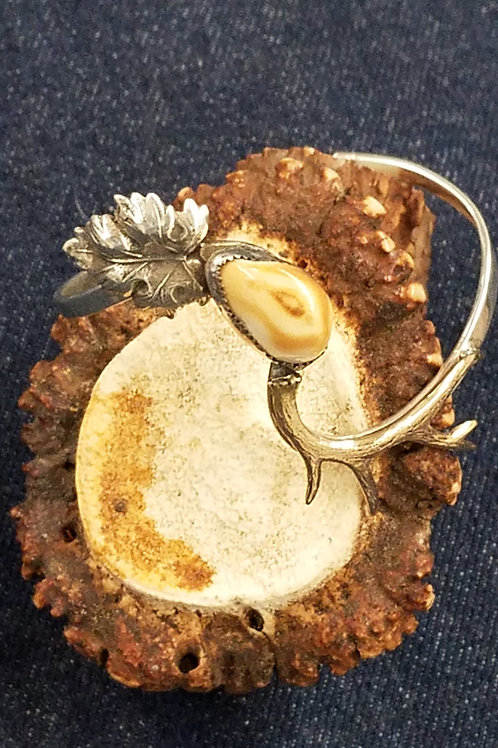 A sterling silver ladies cuff bracelet