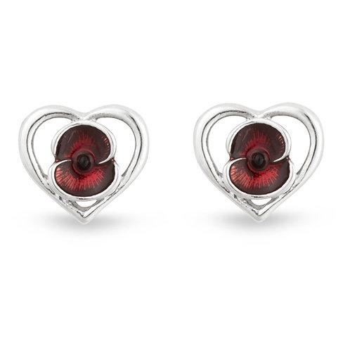 Heart Poppy Earrings