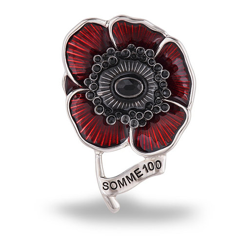 Poppy Collection Somme 100 Poppy Brooch