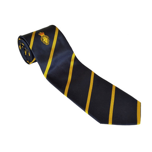 Polyester Members Navy and Gold Tie