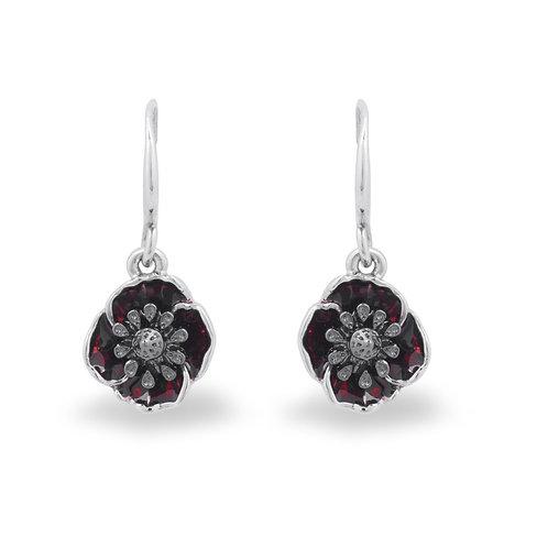 Deco Poppy Drop Earrings