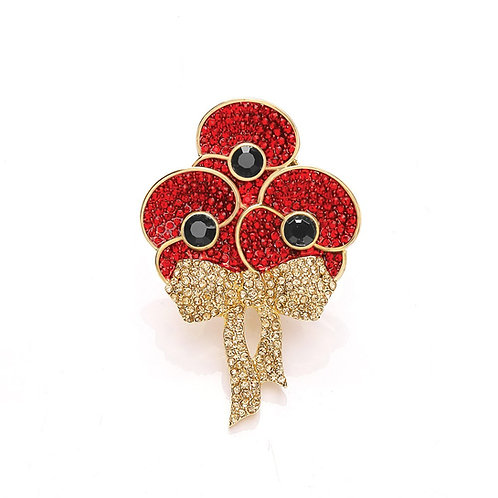 Poppy Collection Royal Bouquet Brooch