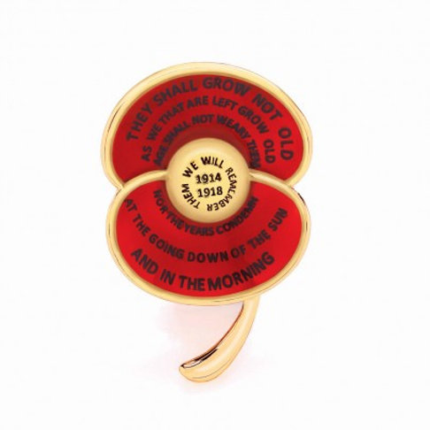 Poppy Collection WWI Centenary Enamel Brooch
