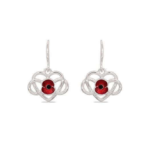 Infinity Poppy Drop Earrings