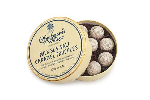 Milk sea salt caramel chocolates