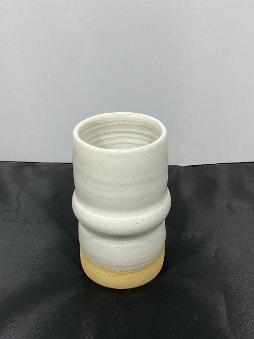 White roll vase