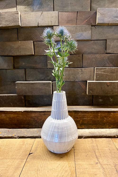 White bulb vase