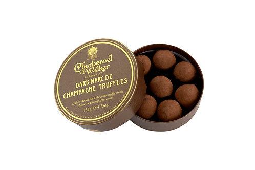Dark Marc de Champagne truffles