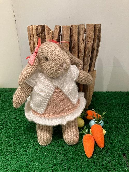 Knitted Mrs Rabbit