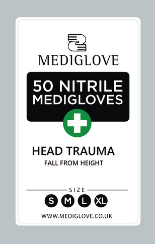 Mediglove Front Head Trauma Fall from He