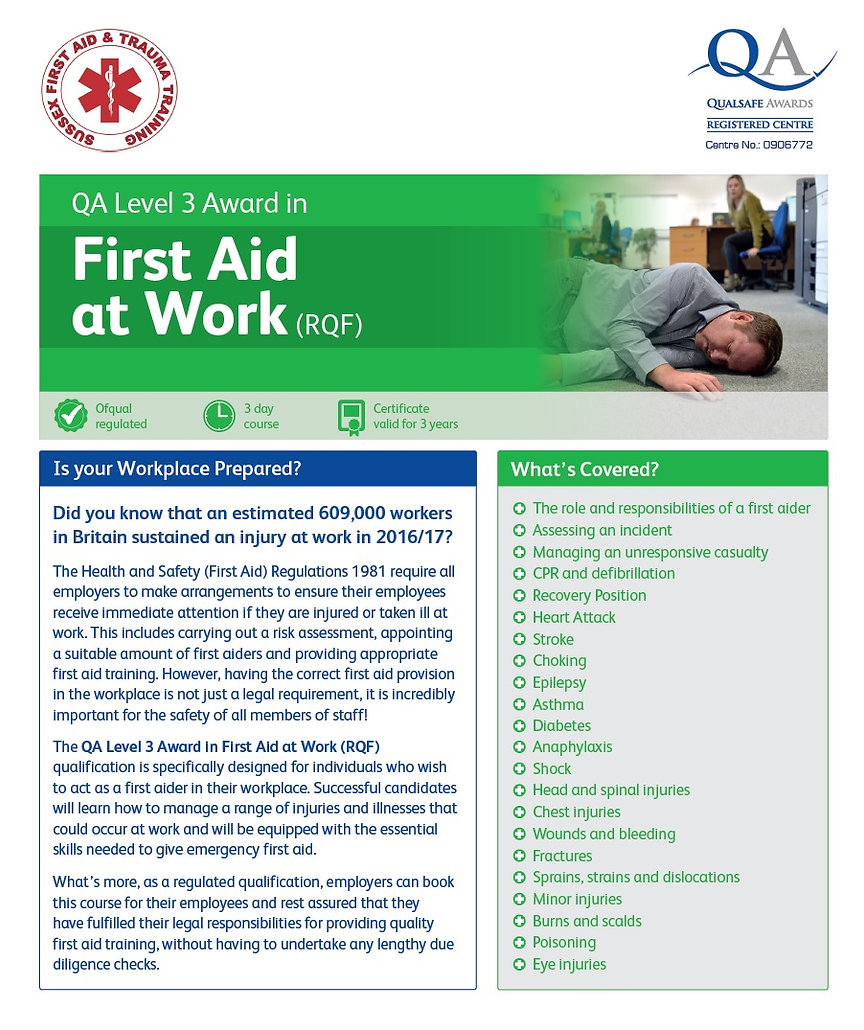FAw First Aid atWork Training