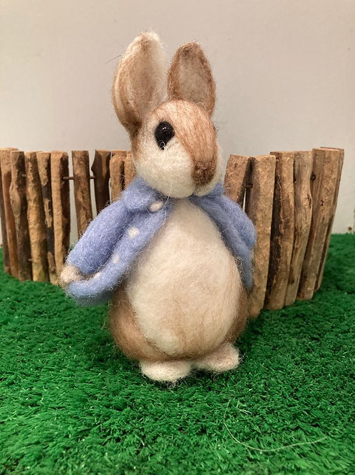 Felted Peter rabbit