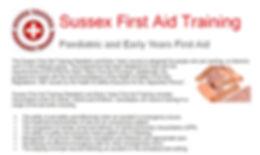 Paediatric First AidTrainng
