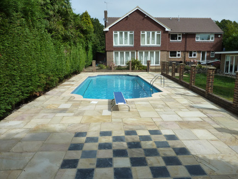 Sevenoaks Pool paving