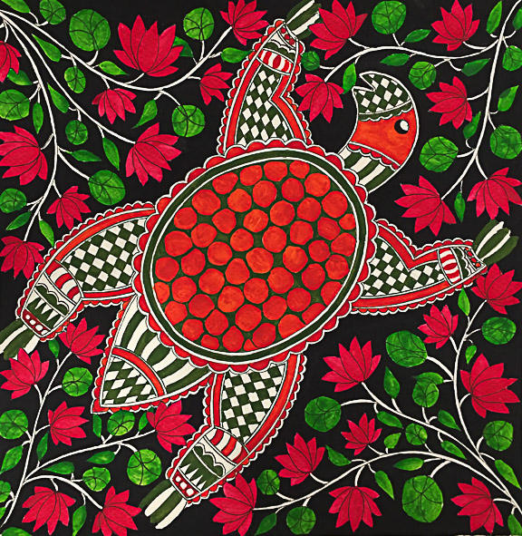 Turtle in lotus pond, 2018 (SOLD)