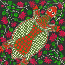Turtle and lotus pond, 2019 (SOLD)