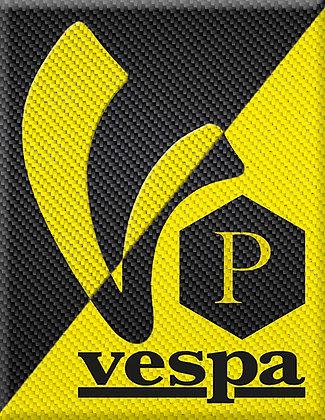 V-Vespa mit P black-yellow-carbon
