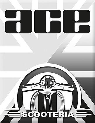 Емблема Scooteria-Ace-Black-White