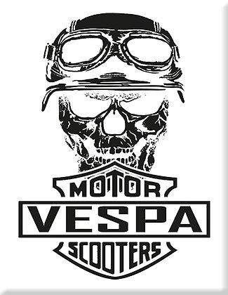 Skull-V-Vespa-Motor-Scooter-White Emblem
