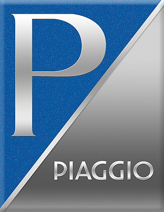 Емблема PIAGGIO Синьо-сиво