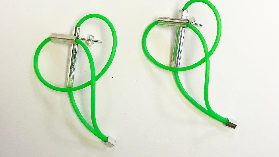 NEON green - par de brincos
