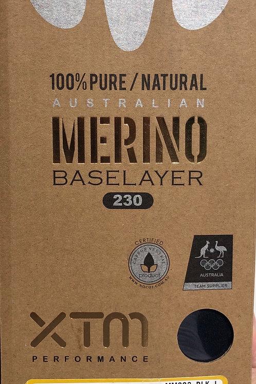 XTM Merino Baselayer 230 mens Zip neck Crew top