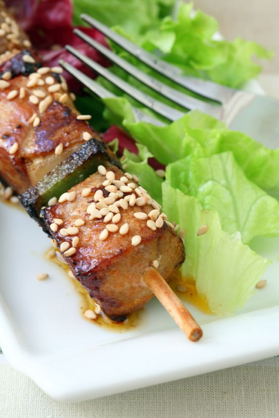 Brochettes de Panisse sauce chimichurri