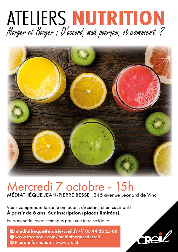 Affiche ateliers nutrition MANGER BOUGER