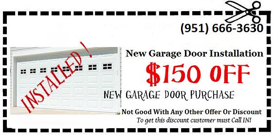 garage door installation coupon in riverside county Ca. garage door emergency repair service in riverside Ca. New garage door installation services in corona ca