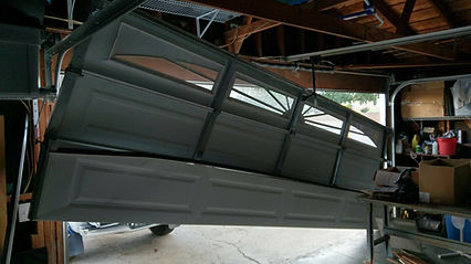 Off track garage door in Irvine CA