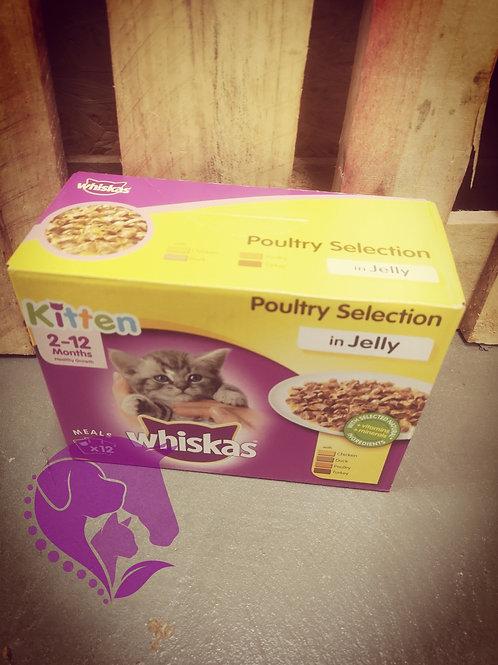 Whiskas Kitten Pouches Poultry Selection