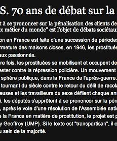 défilé de prostituées contre la pénalisation des clients