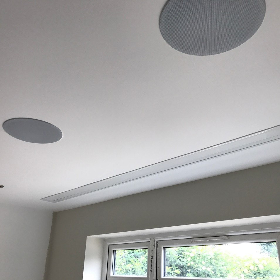 Home cinema in-ceiling speakers