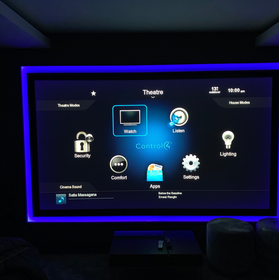 bespoke home cinema integrated with cont