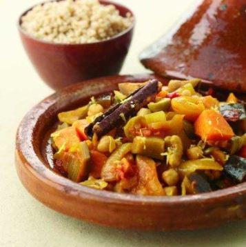 Vegetarisch: Marokkaanse tajine met kikkererwten